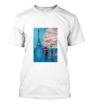 Pareja en París (dibujo)