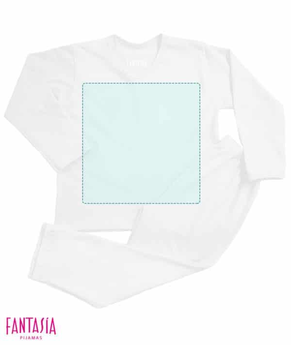 Pijama Niños En Blanco Para Crear