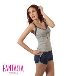 Pijama Short Athletic Tiritas Mujer