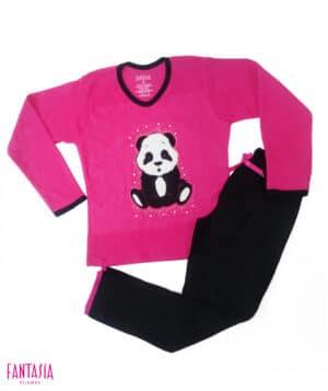 Pijama Térmica para Niñas o Para Mujer Oso Panda