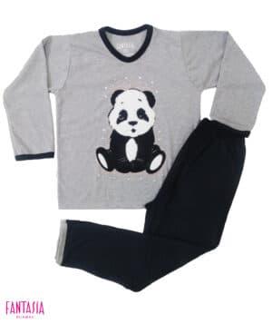 Pijama Algodón para Niña o Para Mujer Oso Panda