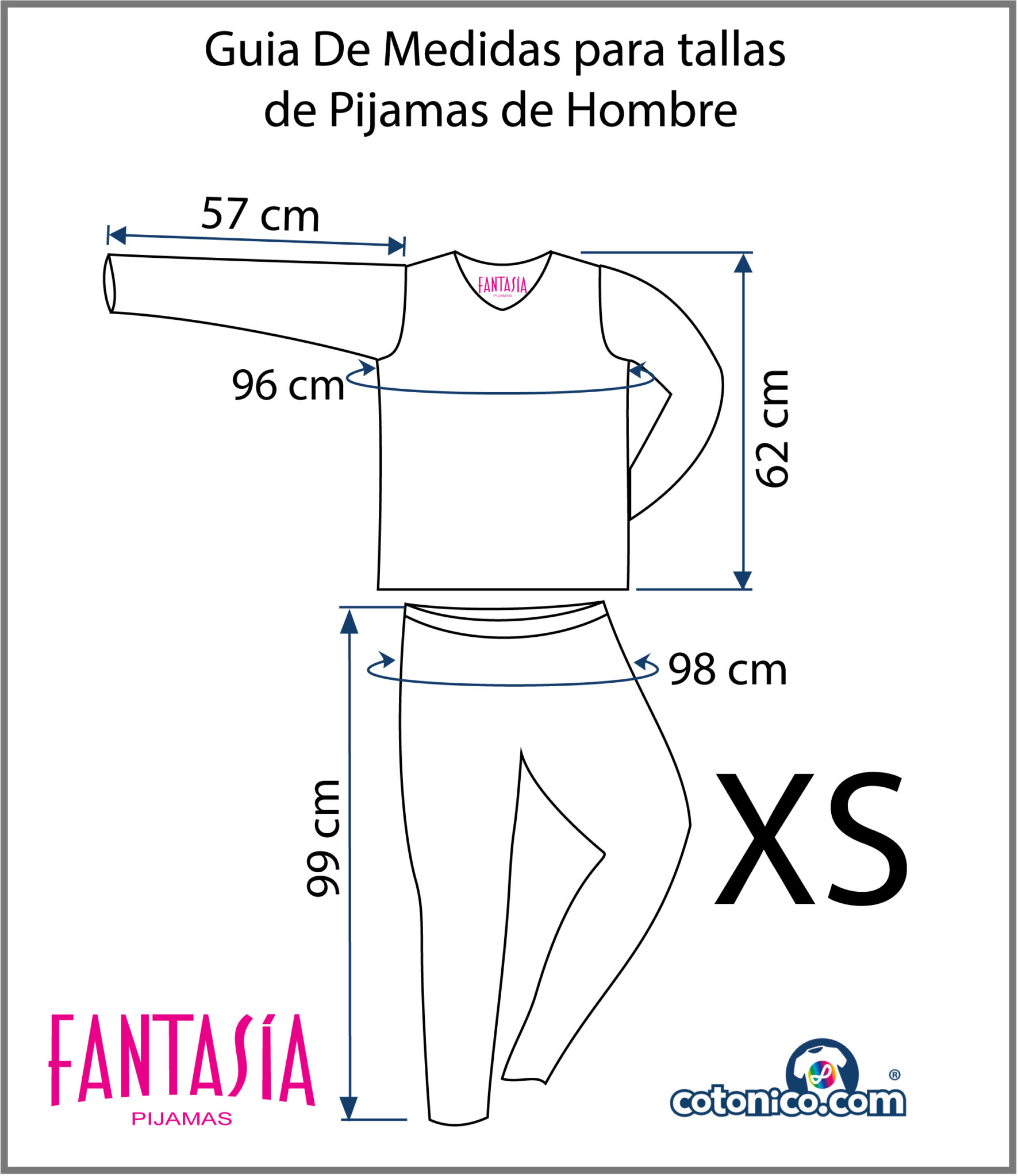 Guia-De-Tallas-Pijamas-De-Hombre-XS