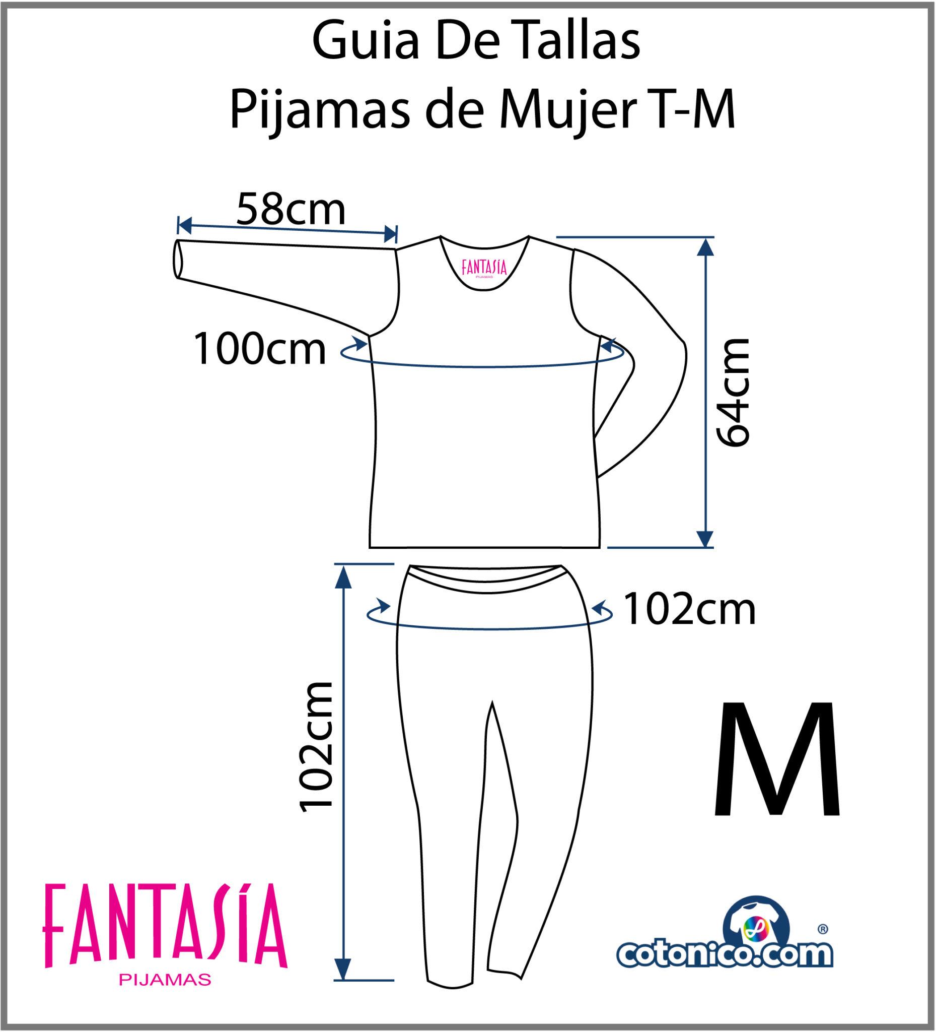 Guia-De-Tallas-Pijamas-De-Mujer-M