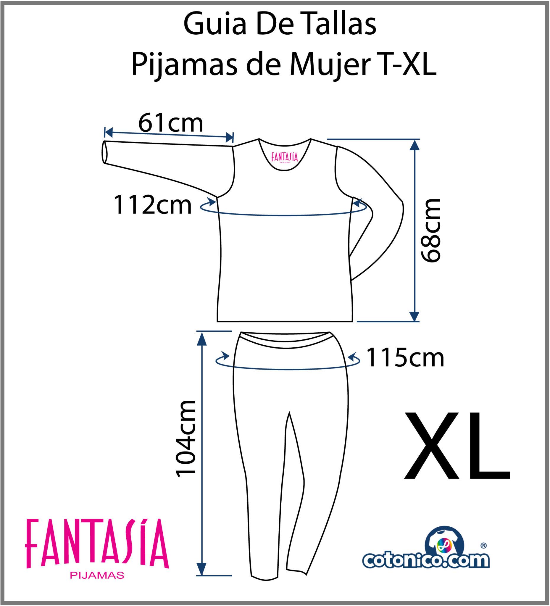Guia-De-Tallas-Pijamas-De-Mujer-XL