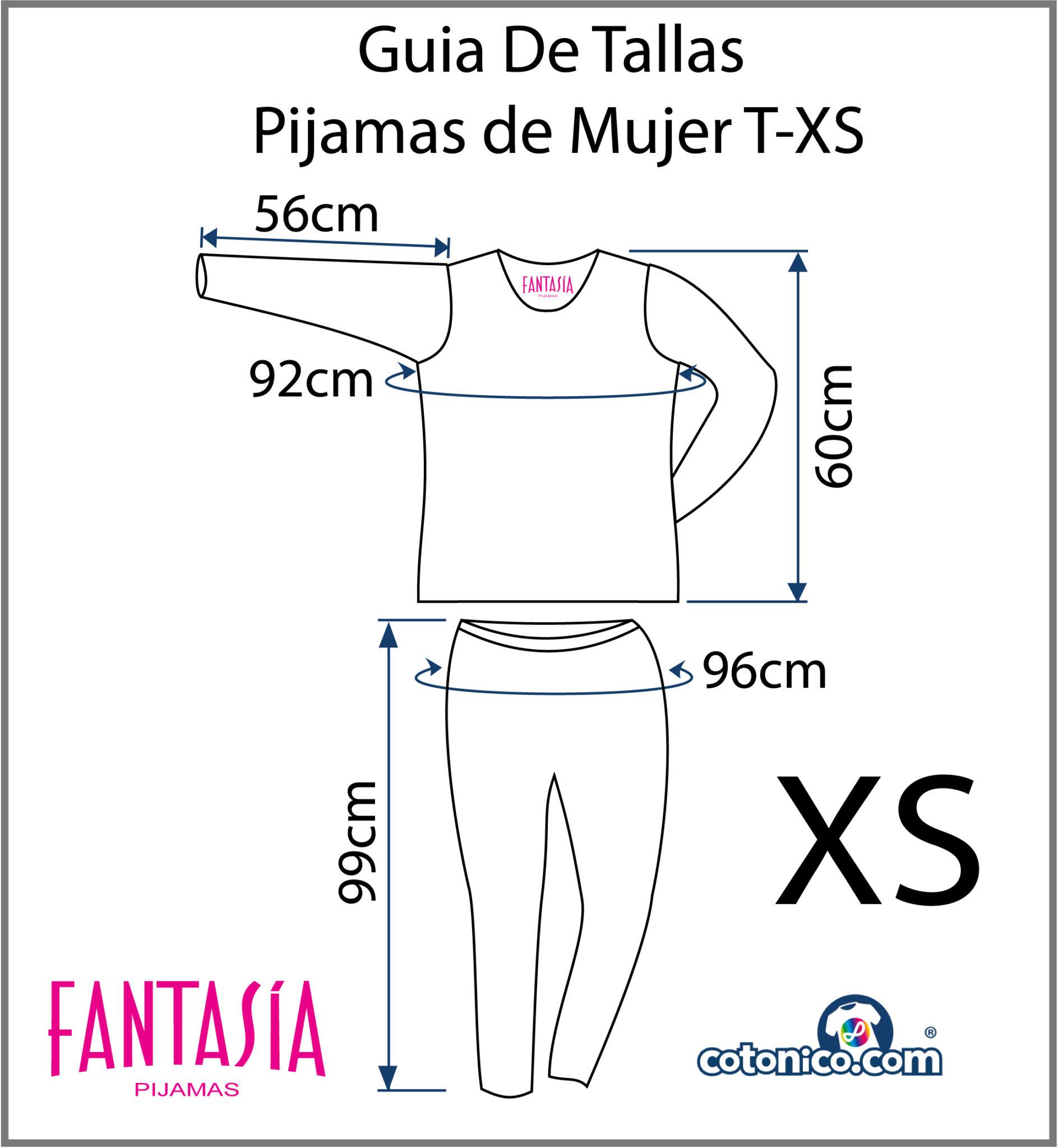 Guia-De-Tallas-Pijamas-De-Mujer-XS