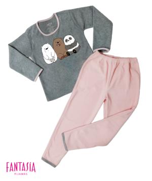 Pijama Mujer o Niña Pantalón Largo Manga Larga  Ref:ES3001